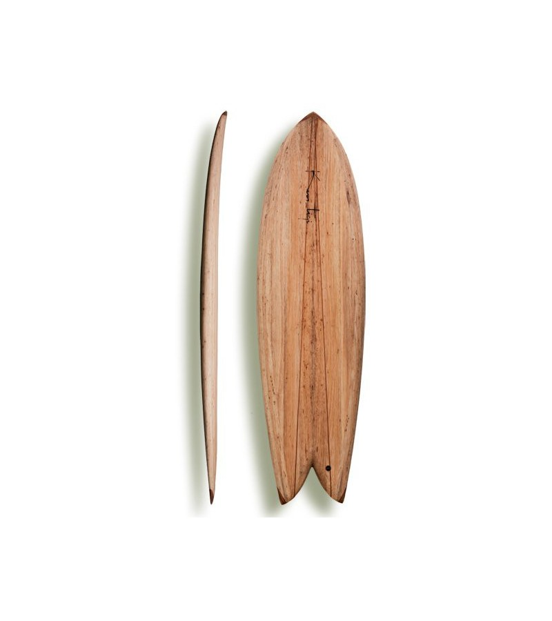 "Kun_tiqi Balsa Surfboard ""Retro Fish Quad"""