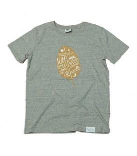"""Kun_tiqi T-Shirt """"Leaf"""", Marmorierung - Männer"""