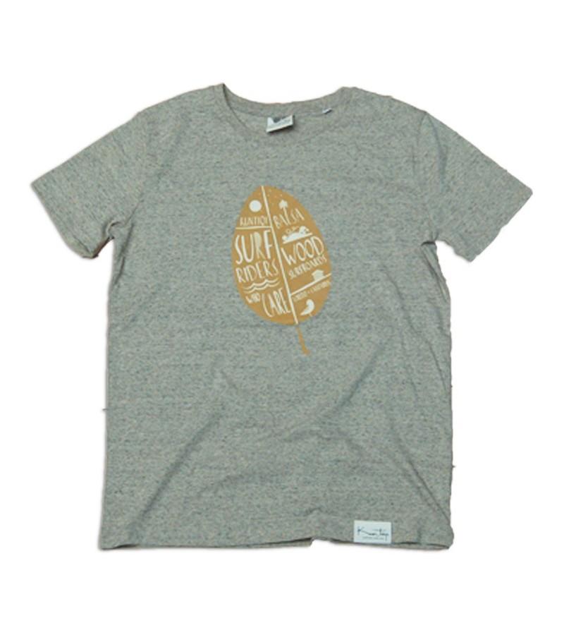 "Kun_tiqi Camiseta ""Hoja""- jaspeado – Hombres"