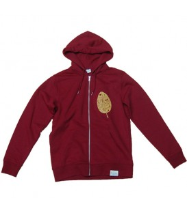 Zip-Up Hoodie Kun_tiqi, burgundi - Men