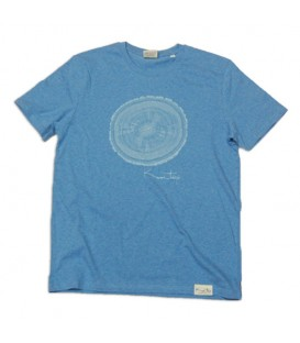 Camiseta Kun_tiqi Life Cycle, mid heather blue