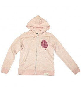 Zip-Up Hoodie- Kun_tiqi- cream-pink-women