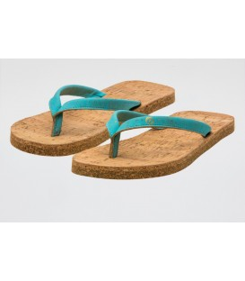 "Ecological cork Flip- Flops ""Aqua"""