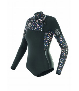 Picture wetsuit GRACE 2/2mm, FZ Terrazzo Black Women