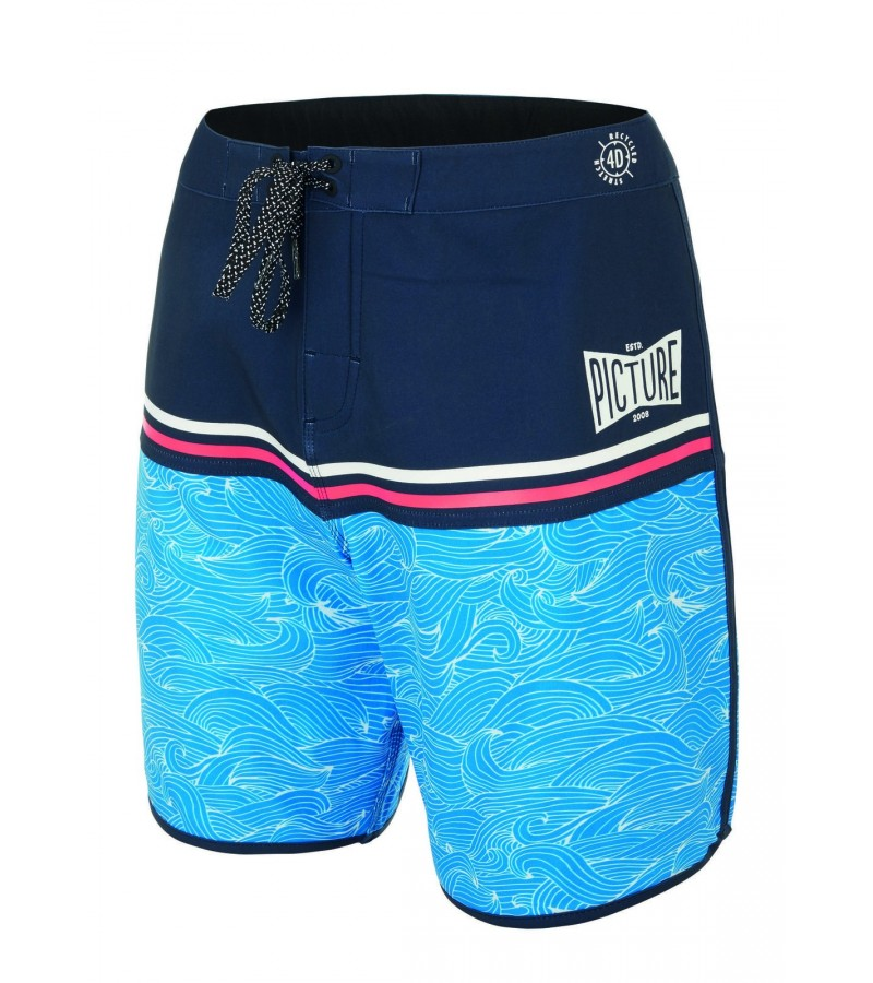 """Picture Organic Clothing Men's Stretch Boardshorts- ANDY 17"""" Waves"""