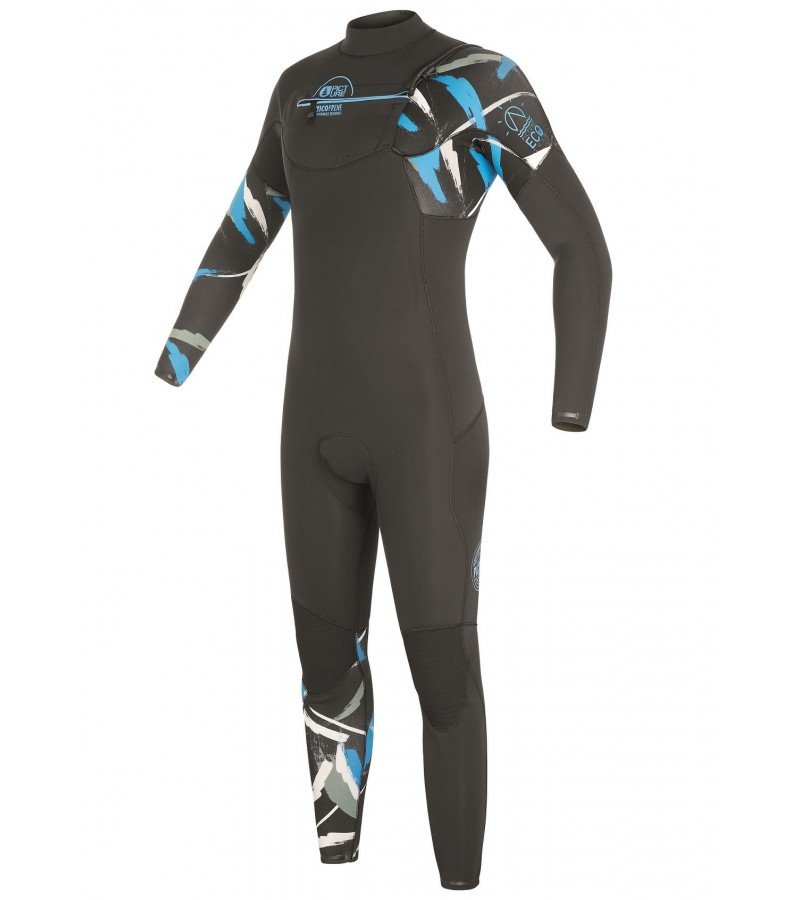 Picture Organic Clothing Eco Wetsuit EQUATION 4/3mm, Front Zip Abstral Men