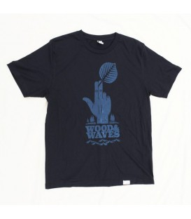 "Camiseta Kun_tiqi ""Wood&Waves"", azul marino"