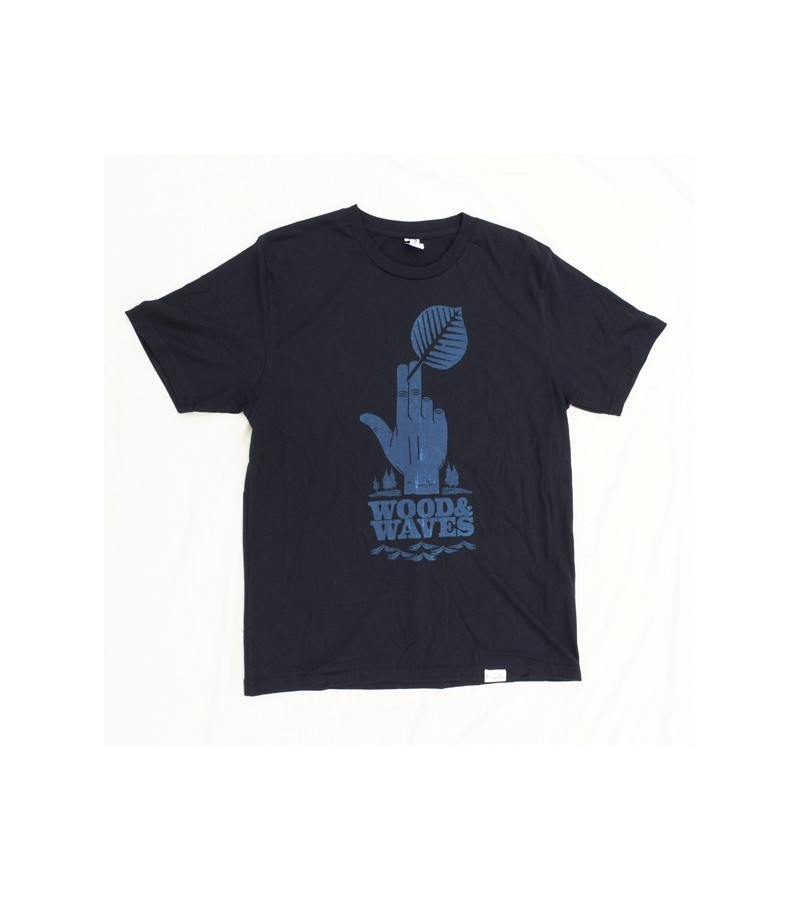 "Kun_tiqi t shirt ""Wood&Waves"", navy"