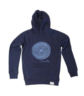 Hoodie Kun_tiqi, deep royal blue - Men
