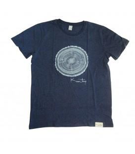 Tee-shirt Kun_tiqi, « Life cycle », Homme, Bleu foncé chiné