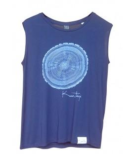 """Kun_tiqi """"Life cycle"""" T-Shirt Organic & Fair, navy blau ärmellos"""