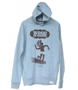 Sudadera con capucha Wood is Good de Kun_tiqi, light heather