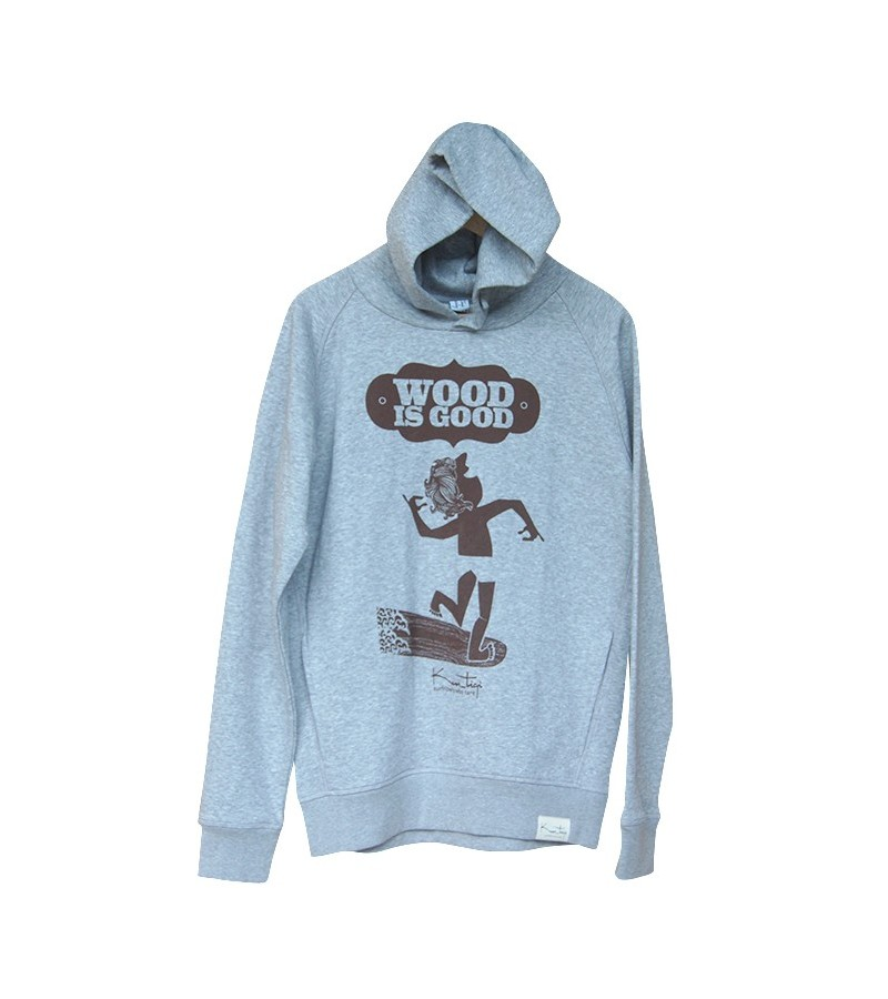 Kun_tiqi Hoody Wood is Good, light heather