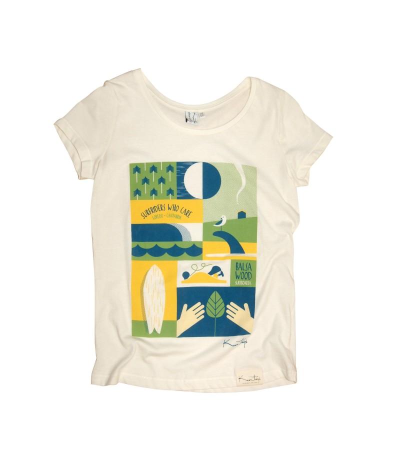 Kun_tiqi T-Shirt Daily, beige - Frau